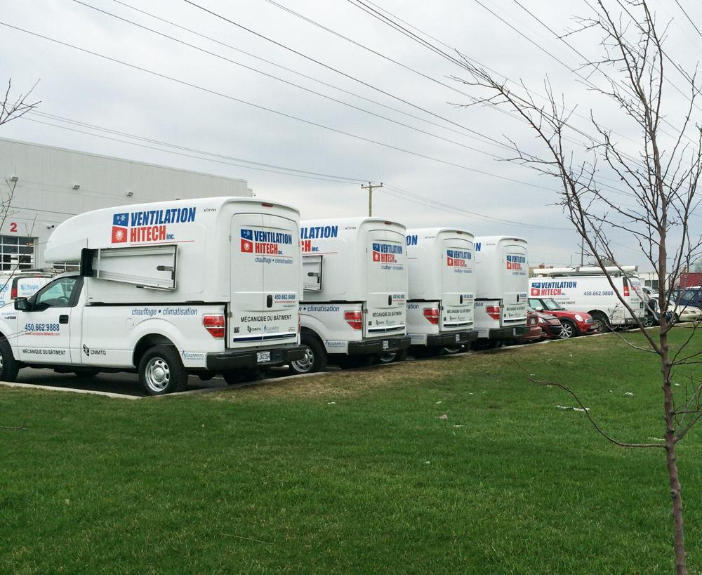 flotte de camions ventilation hitech
