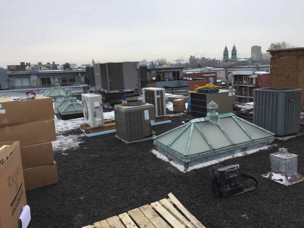 installation unités de toit de climatisation LG